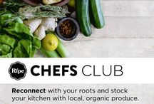 Ripe Chef's Club / The Ripe Chefs Club is a one-stop spot to help professional chefs reconnect with their roots, by providing them with local, organic produce for personal use, and giving them chef-worthy perks, while connecting them to the Ripe foodie community.
