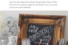 Chalkboard ideas / by Kimberly Ross