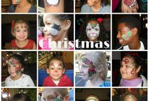 CHRISTMAS FACE PAINTING DESIGNS / Some different designs for the Christmas season