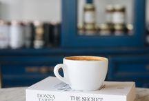 Book + cup = Peace
