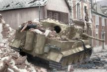 diorama Tiger destroyed