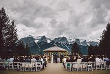 The Ceremony / The beautiful and breathtaking gazebo at Silvertip Resort. The perfect ceremony in the Rocky Mountains.