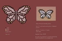 Motýli - plochý steh