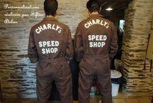 Personnalisations / Personnalisations de vêtements. Supports perso ou vendus par l'atelier.