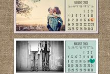 Save the date and wedding invitation