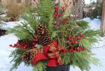 christmas container planters