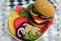 Háčkované a plstěné potraviny (Crocheted and felted food)