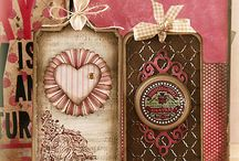 Card with rosettes