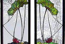 vitráž a malba na sklo