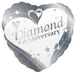 Anniversary: 60th Diamond Wedding Anniversary Party Supplies / See our range of 60th Diamond Wedding Anniversary party supplies, from cake toppers, table decorations, 60th Diamond wedding tableware, 60th Diamond wedding banners & balloons plus favour gift ideas.