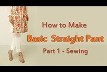 how to sew straight pants