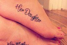 Mother, daughter tattoos