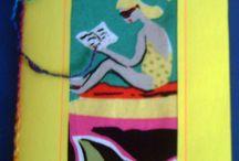 DIY postcards. Cartes postales artisanales. / Choix de cartes postales réaliséées par moi-même et les femmes de l'organisme Ard al atfal d'Agadir et par des femmes africaines