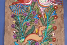 Amate, mexican bark painting