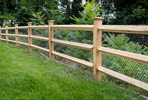 Rustic & Country Fences / We're all familiar with traditional urban fence design such as picket, privacy, aluminum — even modern/horizontal. But drive into the country and you'll spot variations on rail fences, garden fences, rough-hewn split rail and more. This board takes inspiration from these American classics as we often build them for our customers. Here are a few of our fence designs along with those we've taken inspiration from - enjoy!