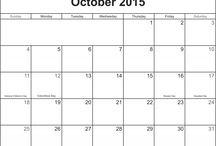 October 2015 Printable Calendar Templates / A variety of blank calendar templates for October 2015