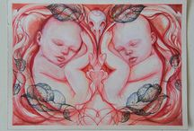 twins, gemelos ,   / Two people, photos, draws, paintings....