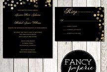 Black and gold / Wedding ideas