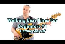 Walking Bass Lines - Talkingbass Lessons / These lessons cover the topic of Walking Bass