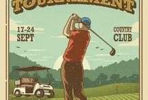 Golf Posters / golf posters, vintage golf posters, golf poster, golf tournament poster, motivational golf posters