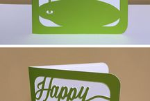Cut Paper Stationery / Cards and other stationery that I designed, and produced.