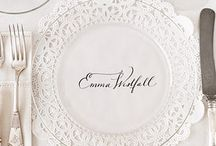 wedding: seating chart & place cards