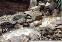Teich-Wasserlauf