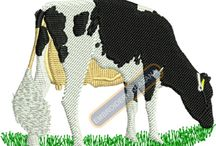 Cows Bull Embroidery Designs