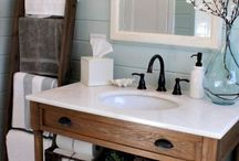 Farmhouse Chic - Bathrooms / Bathroom ideas that are perfect for that farmhouse feel with a touch of spa relaxation.