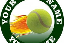Customized Tennis Logo / Create your own tennis logos with names, nicknames, anniversary dates, birthday on it to make iron-on transfers, decals stickers, patches, labels, etc. You also can change background, foreground, images inside the circles. No Minimum Order. If you have any ideas about the tennis logos, give it a shot, you would like the logos which are involved with your thoughts.