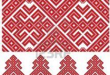 Орнаменты и Узоры Ornaments and Patterns / различные орнаменты для вышивки, вязания-в основном этника,т.е со смыслом..или просто красиво,гармонично