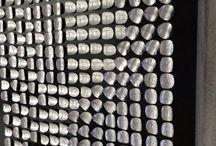 Werkaandewand / Muurdecoratie gemaakt met  aluminium uit hergebruik