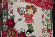 Mes cartes Magnolia / my magnolia stamps