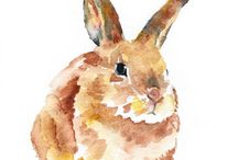 Art - Bunnies / by Trudy Allen