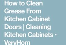 cleaning greasy cabinets