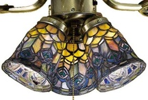 Glass Globes for Ceiling Fans / Love these Light Fixtures / by Susan Trudeau