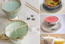 Candele a forma tazza da tè