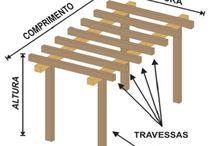Pergolado de madeira