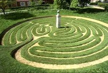 TURF MAZES / Low labyrinths and mazes made from plants, rocks and pavers.