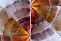 Pintura abstracta tecnica mixta