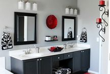 Black White And Red Bathroom Ideas