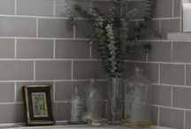 Grey tile bathrooms