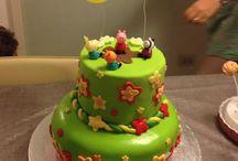 My Kids birthday decoration and homemade cakes
