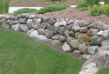 Cabin Rock Wall Ideas / breakwater at lake / by Gary Lindberg