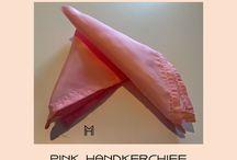 A pink handkerchief