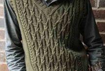 вязание шапки для мужчины