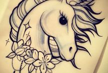 Tattoo unicorn