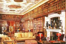 English Libraries / These libraries, located in homes of the upper class, could be cozy or opulent.