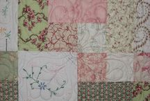 Recycled embroideries quilts