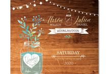 WEDDING   Mason Jars / There are many ways to creatively add mason jars to your wedding, on the day as part of your decor, tableware, or beforehand incorporated into your wedding invitations and stationery. By incorporating this now iconic image into your wedding cards you'll be letting your guests know that your wedding has a lovely rustic theme and that the best is yet to come!